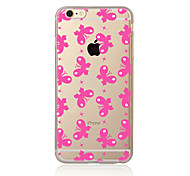 Para Transparente Estampada Capinha Capa Traseira Capinha Borboleta Macia TPU para AppleiPhone 7 Plus iPhone 7 iPhone 6s Plus iPhone 6