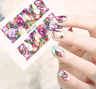 10pcs/set Nail Art Sticker Beautiful Flower Design Nail Water Transfer Decals Nail Beauty Tip STZ-112