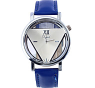 Unisex Fashion Watch Quartz Leather Band Casual Blue Red Orange Orange LightBlue Red Blue