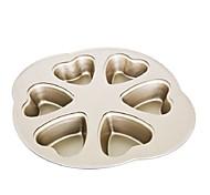 6 heart shape cake pan pie cake pan non stick  cake mould