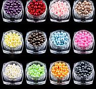 12PCS Nail Art Decoration Circular Color Pearl Gao Liangguang  12 Color  3mm 4mm 5mm