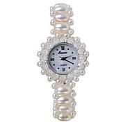 Femme Bracelet de Montre Quartz Bande Blanc Blanc