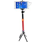 Asta per selfie Monopiede Con filo Allungabile con Cavi Asta per selfie per iPhone Smartphone Android