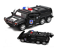 Police car Pull Back Vehicles Car Toys 1:32 Metal Plastic Black White Model & Building Toy