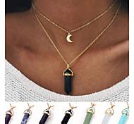 Женский Ожерелья с подвесками Бирюза В форме пули месяц Сплав Уникальный дизайн Простой стиль Мода бижутерия Бижутерия Назначение Свадьба