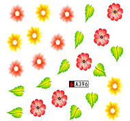10pcs/set Colorful Flower Design Nail Water Transfer Decals Nail Art Beauty Sticker A396
