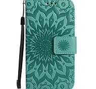 Для Кошелек Бумажник для карт со стендом Флип Рельефный Кейс для Чехол Кейс для Цветы Твердый Искусственная кожа для SamsungA3 (2017) A5
