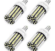 8W E14 LED a pannocchia T 136 SMD 5733 700 lm Luce fredda AC 220-240 V 4 pezzi