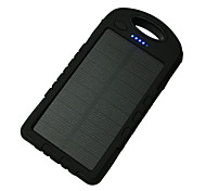 A50 8000mAh 12LED 5V1A Waterproof Power Bank with Solar Charge for Mobile Phone