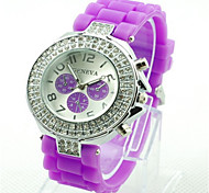 Women's Fashion Watch Quartz Silicone Band Casual Green Purple Yellow