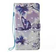 Samsung galaxy a5 (2017) a3 (2017) 3d эффект бабочка и цветочный узор pu материал кошелек раздел телефон корпус для a510 a310