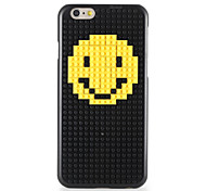 For DIY Block Building Case Smiling Face Pattern Back Cover Case Hard PC for iPhone 7 7 Plus 6s 6 Plus