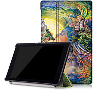 Print PU Leather Case Smart Cover for Amazon New Kindle Fire HD8 HD 8 with Screen Protector