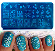 1шт горячей продажа красивой снежинка прекрасного дизайн поделок способ штамповки пластина ноготь нержавеющая сталь штамповка пластина