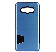 For Samsung Galaxy J5 (2016) Case Cover Card Holder Shockproof Back Cover Solid Color Hard PC