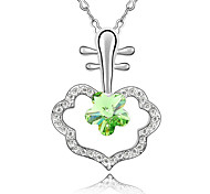 Women's Pendant Necklaces Crystal Flower Chrome Unique Design Personalized Jewelry For Anniversary Congratulations Gift 1pc