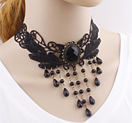 Gothic Lolita Black Jewelry Lace Necklace Lolita Accessories
