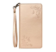 For Google Pixel XL with Stand Flip Embossed Case Full Body Case Flower Hard PU Leather for  Google Pixel