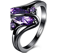 May Polly Europe and the United States fashion gun color zircon ring