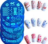 1шт горячей продажи моды ногтей штамповки пластины красивая бабочка цветок прекрасный мультфильм сердце дизайн маникюра трафареты для