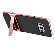 For Samsung S8 Plus S8 Shockproof with Stand Case Back Cover Case Solid Color Hard PC