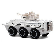 Military Vehicle Pull Back Vehicles Car Toys 1:24 Metal White Green Camouflage Model & Building Toy