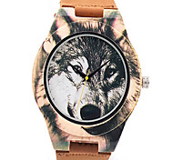 Sport Watch Dress Watch Fashion Watch Wrist watch Bracelet Watch Wood Watch Punk Japanese Quartz Genuine Leather BandVintage Cartoon