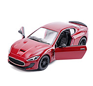 Race Car Pull Back Vehicles 1:28 ABS Red Yellow