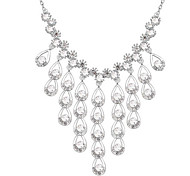 Women's Pendant Necklaces Crystal Drop Chrome Cute Style Jewelry For Special Occasion Gift 1pc
