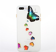 For Glow in the Dark Pattern Case Back Cover Case Butterfly Soft TPU for Apple iPhone 7 Plus 7  6s Plus 6 Plus 6s 6 5s 5