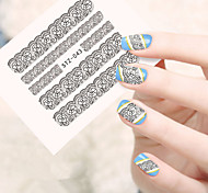 10pcs/set Fashion Sweet Style Lace Nail Art Water Transfer Decals Beautiful Lace Flower Sticker Nail DIY Beauty Design STZ-043