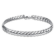 Classic 18K White Gold Plated S Style Snake Chain & Link Bracelets Christmas Gifts Jewellery for Women Accessiories