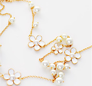 Traditional Lolita White Flowers Necklace Lolita Accessories