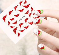 10pcs/set Beautiful Nail Art Water Transfer Decals Lovely Bowknot Design Nail Art Beauty Sticker STZ-034