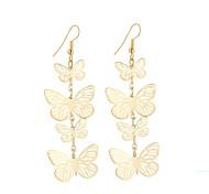 New Hot Fashion Vintage Charm Elegant Plated Gold/Silver Hollow Flying Butterfly Drop Earrings For Women Dangle Long Earrings Jewelry Bijouterie