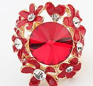 Euramerican Luxury  Small Flower Great Rhinestone Ring Party Women'sCuff Rings Jewelry Gifts