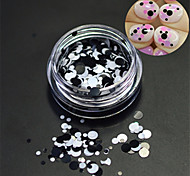 1bottle fashion nail art laser paillettes rondes paillette nail art diy beauté ronde ronde décoration p17