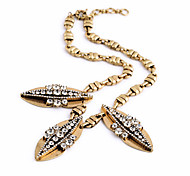 Women's Pendant Necklaces Leaf Chrome Unique Design Personalized Gold Jewelry For Gift Outdoor 1pc