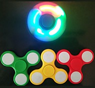 1PCS LED Light Fidget Spinner Finger  EDC Hand Spinner Tri for Kids Autism ADHD Anxiety Stress Relief Focus Handspinner Ramdon Color