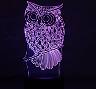 Christmas Owl Turtles Touch Dimming 3D LED Night Light 7Colorful Decoration Atmosphere Lamp Novelty Lighting Christmas Light