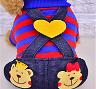 Dog Clothes/Jumpsuit Dog Clothes Cute Stripe Yellow Ruby