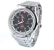 Men's Fashion Watch Quartz Stainless Steel Band Casual Silver