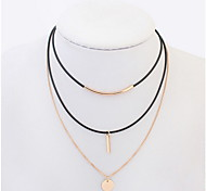 The European and American fashion circle necklace