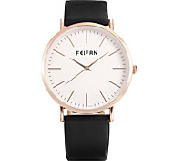 Men's Fashion Quartz Watch Contracted Dial Leather Band Vintage Casual
