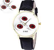 Unisex Fashion Watch Quartz PU Band Black Red Brown