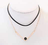 European and American fashion double cute little round necklace
