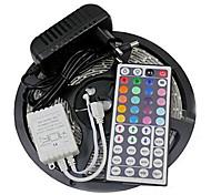 Z®zdm impermeabile 5m 24w 300smd 2835 rgb led luce a strisce 44key telecomando kit 3a alimentatore ac110-240v