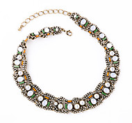 Women's Strands Necklaces Jewelry Chrome Unique Design Personalized Light Green Jewelry For Housewarming Congratulations Casual 1pc
