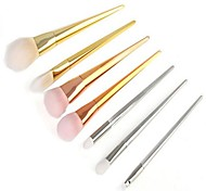 Makeup Brush Sets 7 RT Cosmetic Brushes Rose Gold Plastic Handles Brush And Beauty Tools