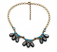 Women's Pendant Necklaces Drop Chrome Friendship Simple Style Dark Blue Jewelry For Party Anniversary Graduation 1pc